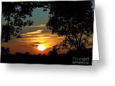 Is It Sun Up Or Sun Down Greeting Card