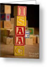 Isaac - Alphabet Blocks Greeting Card