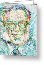 Isaac Asimov Portrait Greeting Card