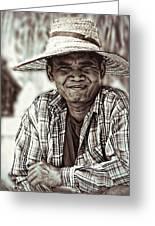 Isaan Rice Farmer Greeting Card