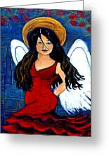 Isabella  A Spanish Earth Angel From Cultures Around The World Greeting Card by The Art With A Heart By Charlotte Phillips