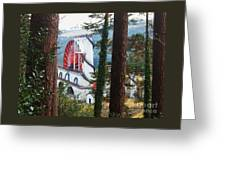 Isabella Through The Trees Greeting Card