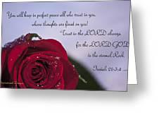 Isaiah 26 3 4 Greeting Card