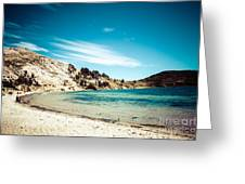 Isla Del Sol On The Titicaca Lake Greeting Card