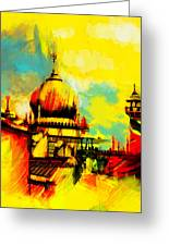 Islamic Painting 001 Greeting Card by Catf