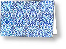 Islamic Tiles 01 Greeting Card