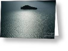 Lugu Lake Island And Ripples China Greeting Card