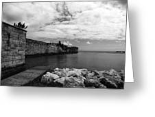Island Fortress  Greeting Card