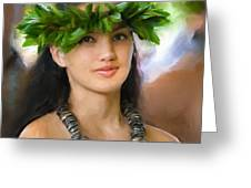 Island Girl Greeting Card