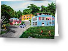 Island Hillside Living Greeting Card