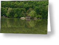 Island House On New River - West Virginia Greeting Card