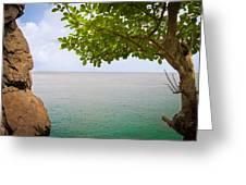 Island Hues Greeting Card