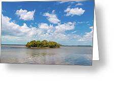 Island In A River, Ten Thousand Greeting Card