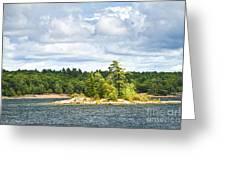 Island In Georgian Bay Greeting Card