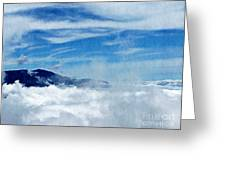 Island In The Clouds Greeting Card