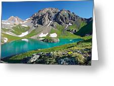 Island Lake And U.s. Grant Peak Greeting Card