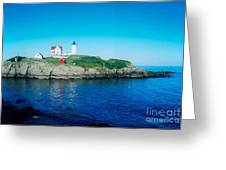 Island Lighthouse Greeting Card