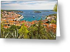 Island Of Hvar Scenic Coast Greeting Card