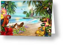 Island Of Palms Greeting Card