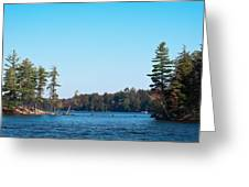 Island On The Fulton Chain Of Lakes Greeting Card