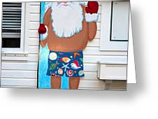 Island Santa Greeting Card