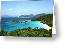Island Shore Trunk Bay Greeting Card