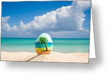 Island Style Easter Egg Greeting Card