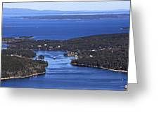 Isle Au Haut Harbor Greeting Card by Dave Cleaveland