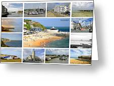 Isle Of Wight Collage - Labelled Greeting Card