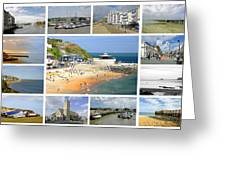 Isle Of Wight Collage - Plain Greeting Card