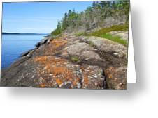 Isle Royale Rocky Shoreline Greeting Card
