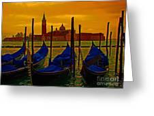 Isola Di San Giorgio Maggiore In Venice Greeting Card by Al Bourassa