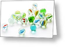 Isolated Marbles Greeting Card