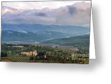 Israel Latron Monastery And Winery Greeting Card