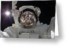 Iss Expedition 32 Spacewalk Greeting Card by Nasa Jsc
