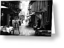 Istanbul Freeze Frame Greeting Card by John Rizzuto