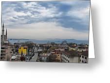 Istanbul Panorama Hdr Greeting Card