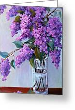 It Is Lilac Time Greeting Card