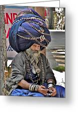 Its All In The Head - Rishikesh India Greeting Card