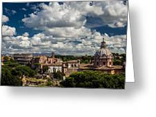 Italian Architecture In Rome City View Greeting Card