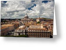 Italian City Rome Overview Greeting Card