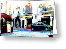 Italian City Street Scene Digital Art Greeting Card