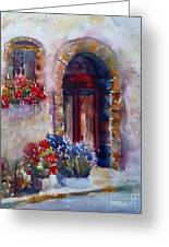 Italian Door Painting By Carolyn Jarvis