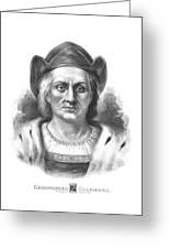 Italian Explorer Christopher Columbus Greeting Card