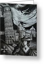 Italian Fantasies. Pisa Greeting Card