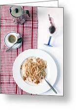 Italian Food Greeting Card by Joana Kruse