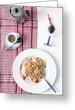 Italian Food Greeting Card