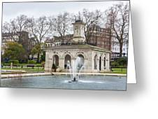 Italian Fountain In London Hyde Park Greeting Card by Semmick Photo