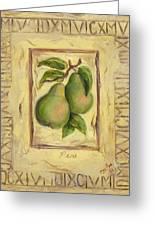 Italian Fruit Pears Greeting Card