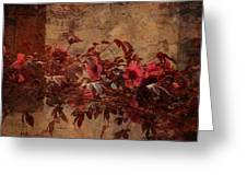 Italian Impasto Style Coral Floral Branch Greeting Card